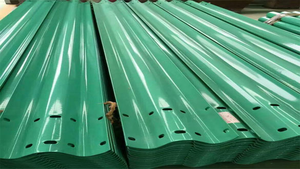 Spray Coating Guardrail